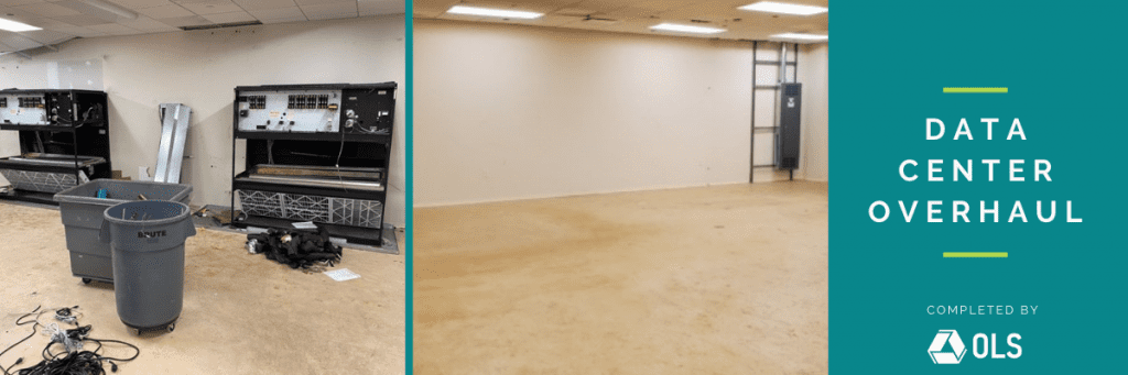Before and after of data center